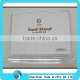 desktop custom printed acrylic card stand business card display stand office name plate stand cheap
