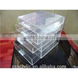 5 Tiers Clear acrylic makeup drawer organizer