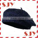 fashion design wool felt french military beret hats for children