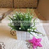 Beautiful Single Stem Purple Silk Baby Breath Flowers For Flower Arrangement