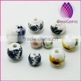 2015 whole sale artificial for DIY jewelry Bead porcelain blue and white 10pcs per bag