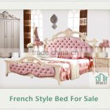 Bedroom Furniture HA-906# french wood antique bed chiniot furniture bed sets bed design furniture