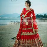 Foremost Dark Red Fancy Net Designer Lehenga Choli/Lehenga Choli 2016/Latest Lehenga Choli