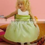 Design Little Baby Sleevless Ankle Length Custom Made Vestidos Flower Girl for Wedding FG043 girl party wear dress