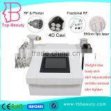 professional 4D Cavitation fast weight loss with Fractional RF lipolaser vacuum rollar multifunction machine