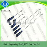 6 PCS Steel Pry Bar For Cars