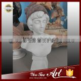 Carved Marble Female Bust Statue For Sale