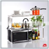New Multifunction Stainless Steel Tool Kitchen 2 layers Microwave Oven Organizer Holder Storage Shelf Rack