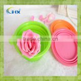 Hot Sell Silicone Pet Bowl Cat/dog Feeders Colorful Single Bowls Environmental Protection