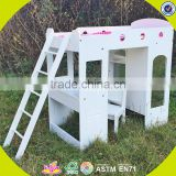 wholesale kids toy double-deck children toy wooden doll bed W06B039