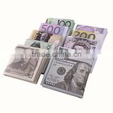 New Creative Gift PU Material Wallet Short Novelty Style Banknotes Money Printed Purse