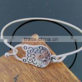 unique lock charm design bangle cheap price lock charm bangle adjustable lock charm bangle for preety ladies