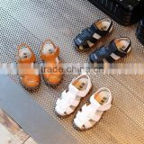 S60218B 2017 Korea style boy children leather sandals child baby beach shoes