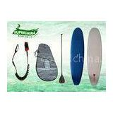 Epoxy fiberglass EVA Soft top sup boards , Square tail stand up surfboard