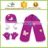 best selling consumer product hot style wholesale kid knit hat and scarf sets