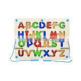 High Quality Montessori Toys Solid Wooden Alphabet board For Kids