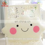 Smiley Face Funny Stuffed Bow Cloud Plush Seat/Back Pillow Cushion