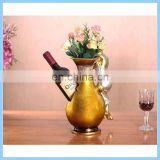 creative resin flower bottle red wine holder for home decoration