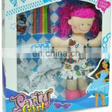 DIY painting fashion dressing up cloth dolls for kids with color markers