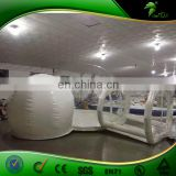 Best Selling Inflatable clear bubble tent / Two room inflatable bubble lodge tent