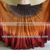 25YARDS 3TONE TRIBAL BELLYDANCE COTTON TIER SKIRT