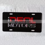 logo embossed promotional cast aluminum license plate