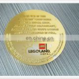 Promotional gold color embossed plastic token coin