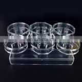 China made custom design acrylic plastic high quality transparent octagon magnetic bracelet boxes