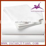 100% white plain/sateen hotel bed sheets