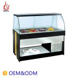 1.89M Counter Top Marble Sliding Door Salad Bar display equipment