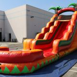 Inflatable slip and slide inflatable water slide axs-18