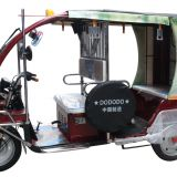 AKA4 electric battery rickshaw passenger tricycle, trike vehicle, taxi passenger three wheelers