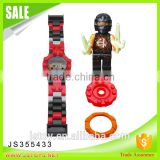 2016 new design plastic building blocks toys electronic watch with minifigures for kids                                                                                         Most Popular