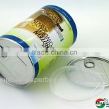 empty paper easy open tubes for baby milk powder