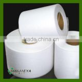 cross lapping spunlace Nonwoven Fabric 20%viscose/rayon 80% PET/Polyester for wet tissue,wipes