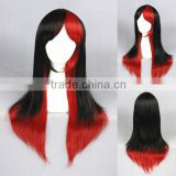 Cheap 60CM medium black red lolita fancy women synthetic hair cosplay wig