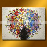 thick brush strokes heavy oil colourful flower oil painting                                                                         Quality Choice