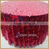 SQN74 best price gorgeous raspberry beaded table clothes wedding                                                                         Quality Choice