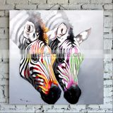 2015 Hot Selling Strong Artists Team 100% Handpainted Abstract Art Oil Painting of Zebra on Canvas for Wall Decoration