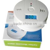 Battery operated powered CO gas detector, personal carbon monoxide with LCD display