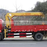 howo 6*4 12 ton truck crane gets up with the heavy and transport vehicle truck with loading crane