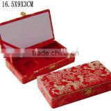 Chinese Style Fancy Red Wooden Double Coin Gift Packaging Box W27