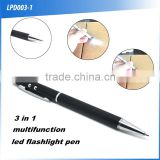 (160041) Promotional gift red laser 3 in 1 led torch light pen with customized logo                                                                         Quality Choice