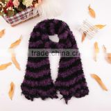 Fashion Stripe Women's Winter Changeable Long Warm Stretchy Microfiber Magic Scarf Wrap Shawl