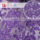 wholeale cheap high quality purple cord lace fabric top quality for lace making dress