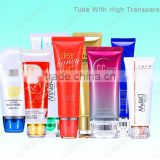 BB cream plastic tube with acrylic cap cosmetic tube