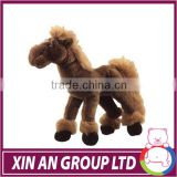 OEM cute fine soft velboa and long plush horse toy for baby