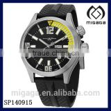 Men's Engineer Master Analog Display Automatic Black Watch-DAY DATE DISPLAY RUBBER STRAP SPORTY AUTOMATIC WATCH