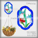 MX100087 tiffany style hummingbird stained glass craft decorative garden decor hanging baskets
