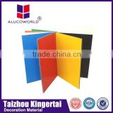 Alucoworld good aluminium acp services /3mm interior wall cladding Aluminum composite panel(ACP)